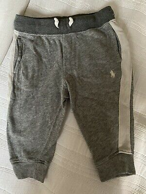 £8.80 • Buy Ralph Lauren Baby Tracksuit Bottoms Grey Size 9 Months