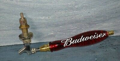 $ CDN71.17 • Buy Vintage Budweiser 12  Tap Handle With Stainless Steel Tap & Hardware