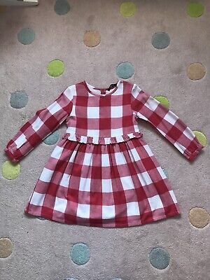 Girls Pink Checked Dress Age 3-4 • 1.90£