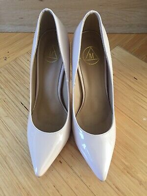 Womens Missguided Nude Patent Court Shoes Size 6 • 1.20£