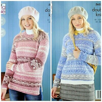 KNITTING PATTERN Ladies Easy Knit Jumper And Tunic Fjord DK 5653 King Cole • 3.95£