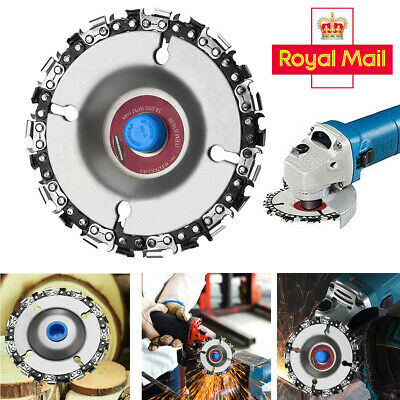 4  Angle Grinder Disc 22 Tooth Chain Saw For Carving Culpting Wood Plastic Tool • 5.99£