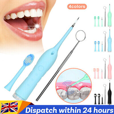 Tooth Stains Tool Dental Scalers Tartar Calculus Plaque Electric Sonic Remover • 9.29£