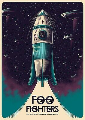Reproduction  Foo Fighters - Jones Beach ,  Poster, Grunge, Size A3 • 11.50£