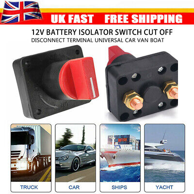 12V Universal Car Van Boat Battery Isolator Switch Cut Off Disconnect Terminal • 5.49£