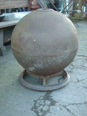 Large Antique Rustic Iron Buoy / Ball / Water Feature  / Garden Ornament  • 395£