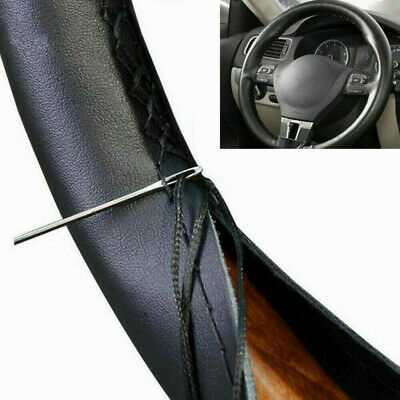 $14.56 • Buy Black Leather 15  Car Auto Steering Wheel Cover For CHEVROLET CHEVY Accessories