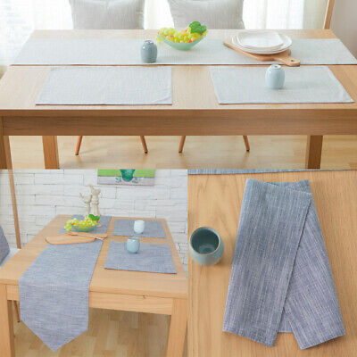 AU23.29 • Buy Table Runner Placemat Cotton Linen Table Cloth Covers Kitchen Dining Table Decor