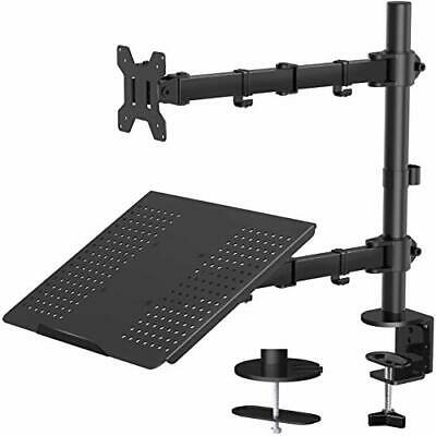 Laptop Monitor Mount Stand With Keyboard Tray With Clamp And Grommet Mounting • 62.19£