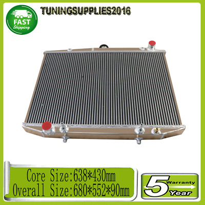 AU159 • Buy 3 Row Aluminium Radiator For Nissan Navara D21 TD27 2.7L Terrano Diesel 86-97 AT