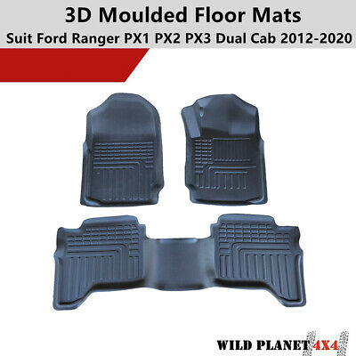 AU99.95 • Buy 3D TPE All Weather Floor Mats Liner Fit Ford Ranger PX 123 MK Wildtrak Dual Cab