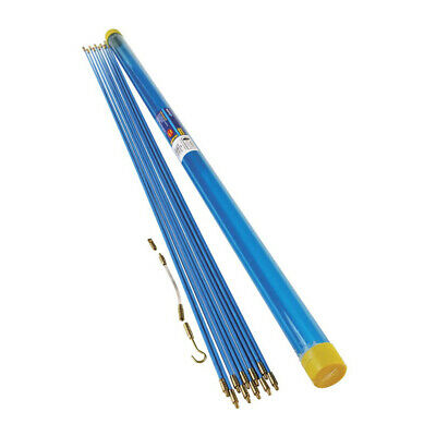 10 METRE CABLE PULLER  INSTALLATION WALL ACCESS KIT 10 X 1m PUSH PULL DRAW RODS • 15.98£