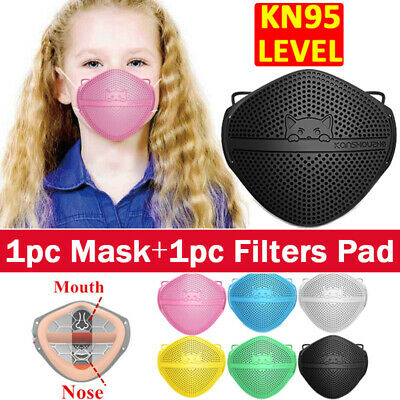 $ CDN10.77 • Buy Kids Separate Nose Mouth Mask W/ Carbon Filter Purify Protection Reusable