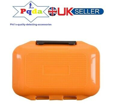 Metal Detecting DELUXE Small Finds Box,Tough Double Sided,12 Compartments Black. • 10.99£