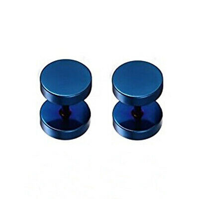 Round Stainless Steel 304 Fake Ear Plugs Screw Back 5 Colours 2 Sizes (016) • 3.25£