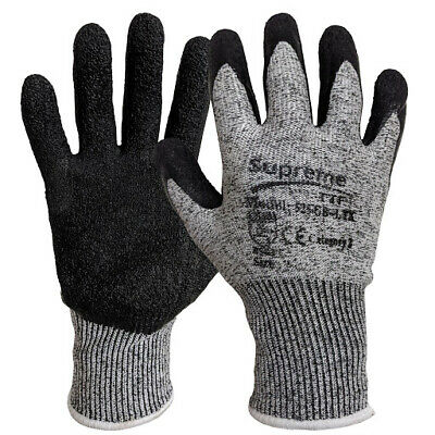 £4.18 • Buy Cut Resistant Level 5 Work Safety Gloves Builders Grip Protection