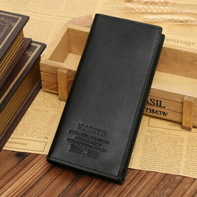 $11.39 • Buy High Quality Men Business Bifold Wallet Long Clutch Leather Purse ID Card Holder