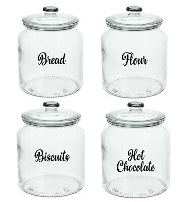 £1.99 • Buy Kitchen Labels For Glass Jars Tins Canisters Tubs Storage Boxes Pot Tea Stickers