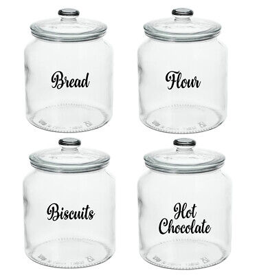 Kitchen Labels For Glass Jars Tins Canisters Tubs Storage Boxes Pot Tea Stickers • 1.99£