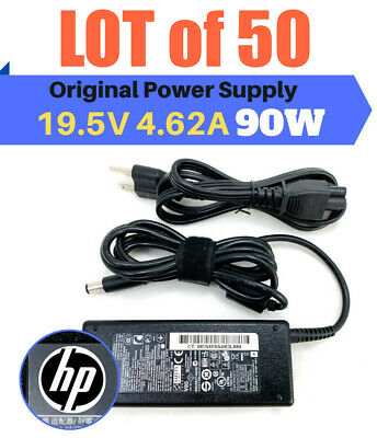$ CDN885.85 • Buy Lot Of 50 - Genuine HP 90W AC DC Adapter 677777-003 693712-001 W/Cords OEM