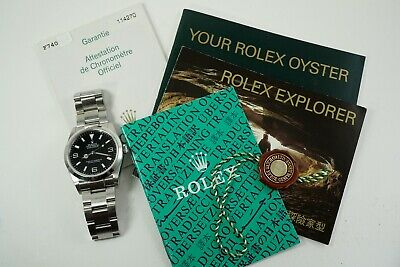 $ CDN8435.22 • Buy ROLEX 114270 EXPLORER I STAINLESS STEEL W/ PAPERS, BOOKLETS AND BOX DATES 2005