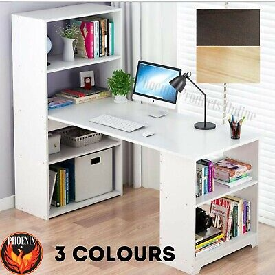 AU169.83 • Buy Study Office Storage  Desk Student Workstation Home Study Computer Laptop Table