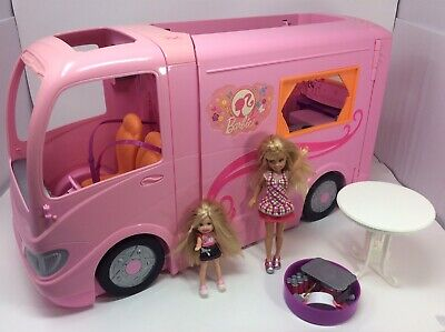 $99.99 • Buy Mattel Barbie RV Camper Van Pop Out Vacation Glamour Camping Accessories Fun Lot