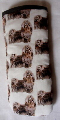 £3.95 • Buy SHIH TZU GLASSES CASE - Cotton- Ideal Small Gift