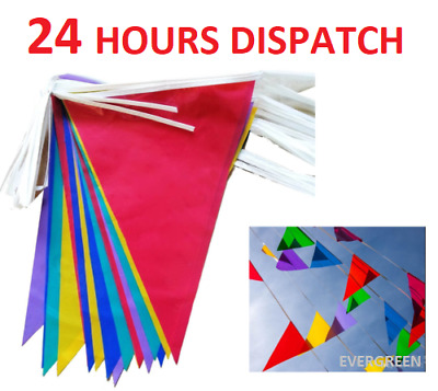 £1.88 • Buy Large 33 Feet Multi Colour Bunting Flags Party PVC Banner Indoor/Outdoor Gardens