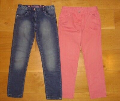 £16 • Buy EX COND  2x NEXT GIRLS 10 Yrs Blue Jeans & Pink Chinos
