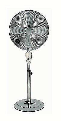 £57.95 • Buy Aironic Chrome 3-Speed 16-Inch Pedestal Floor Fan With Remote Control 4hr Timer