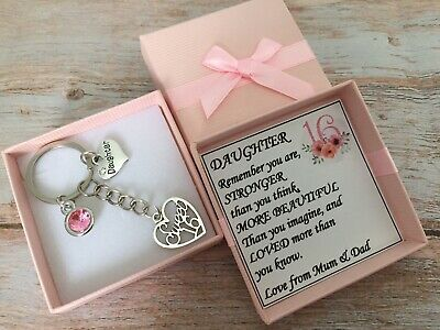 SWEET 16th BIRTHDAY Gifts Charm Keyring For Daughter Sister Friend Cosin Niece • 4.99£