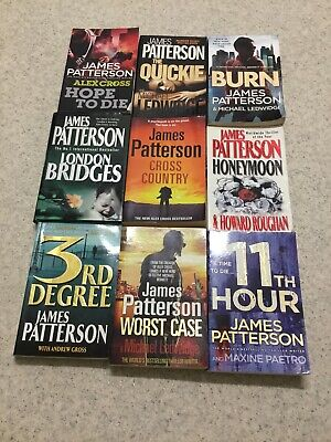 AU30 • Buy 9 X James Patterson Books...bulk Lot. Good Well Used Condition.