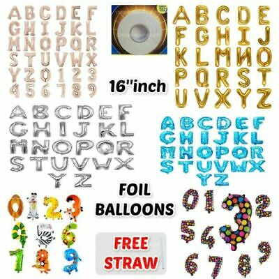 $2.94 • Buy 16  Giant Foil Number Air Small Balloons Birthday Party Wedding Name Letter Foil