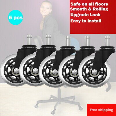 AU37.99 • Buy 5pcs Rollerblade Office Desk Chair Wheels Replacement Rolling Caster Grip Ring