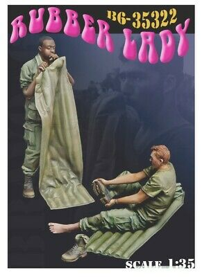 1/35 Scale And Cast In Resin US Vietnam Soldiers 'Rubber Lady' • 26.99£