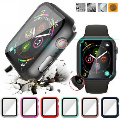 $ CDN7.28 • Buy For Apple Watch Series 5 4 3 2 Full Body Tempered Glass Screen Case Cover
