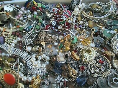 $ CDN12 • Buy  Vintage To Now JUNK DRAWER Estate Jewelry Watch Pins Lot Unsearched Untested