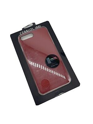 Cerruti 1881 Case For IPhone 7 Plus / 8 Plus Faux Leather Hard Shell Cover Red • 14.95£