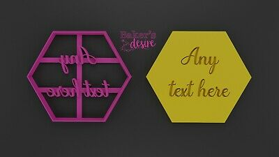 £5 • Buy Personalized Hexagon Cutter | Cookie | Fondant | Icing | Gumpaste | Polymer UK