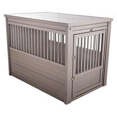 $493.95 • Buy EcoFlex Dog Crate End Table Pet  House Furniture Gray X Large