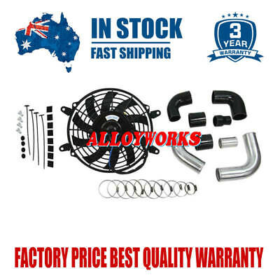 AU199 • Buy Intercooler Pipe Kits+9 Fan 12V For Nissan GU ZD30 DI Patrol Turbo Diesel 3.0LTR