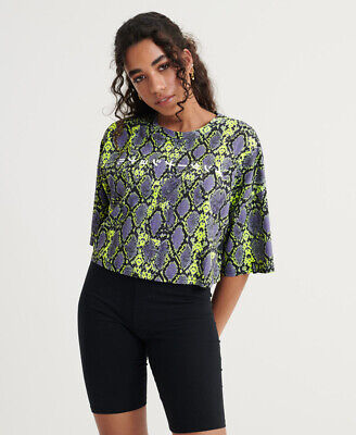 £10 • Buy Superdry Womens City Oversized Crop T-Shirt