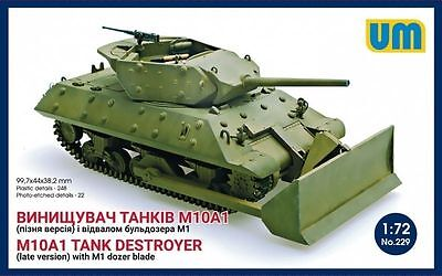$13.49 • Buy Unimodel 229 M10A1 Tank Destroyer (Late) With M1 Dozer Blade 1/72 Scale