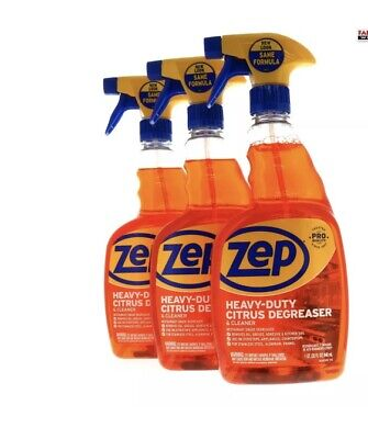 (3) ZEP Heavy-Duty Citrus Degreaser & Cleaner ~ 32 Oz ~ Pro Quality • 30.17£