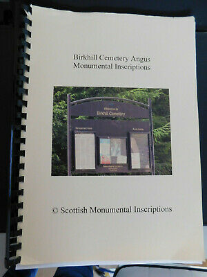 Genealogy-Scottish Monumental Inscriptions Book-Various Burial Grounds- Scotland • 5£
