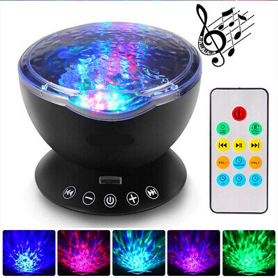 Projector LED Night Light Ocean Lamp Wave Remote Control Music Starry Star Sky • 13.29£