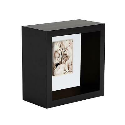 4 X 4 3D Box Frame Photo Picture Deep Display Shadow With 2 X 2 Mount  Black • 9.99£