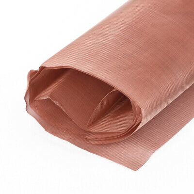 Copper Woven Mesh Fabric 80 Mesh 200Micron Dry Filter Sift Screen 12x36 • 9.28£