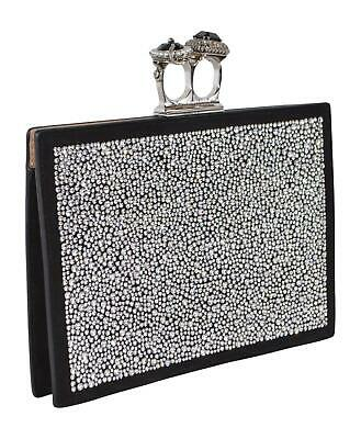 AU1131.72 • Buy New Alexander McQueen 554151 $2,990 2 Jewel Ring Crystal Embellished Clutch Bag